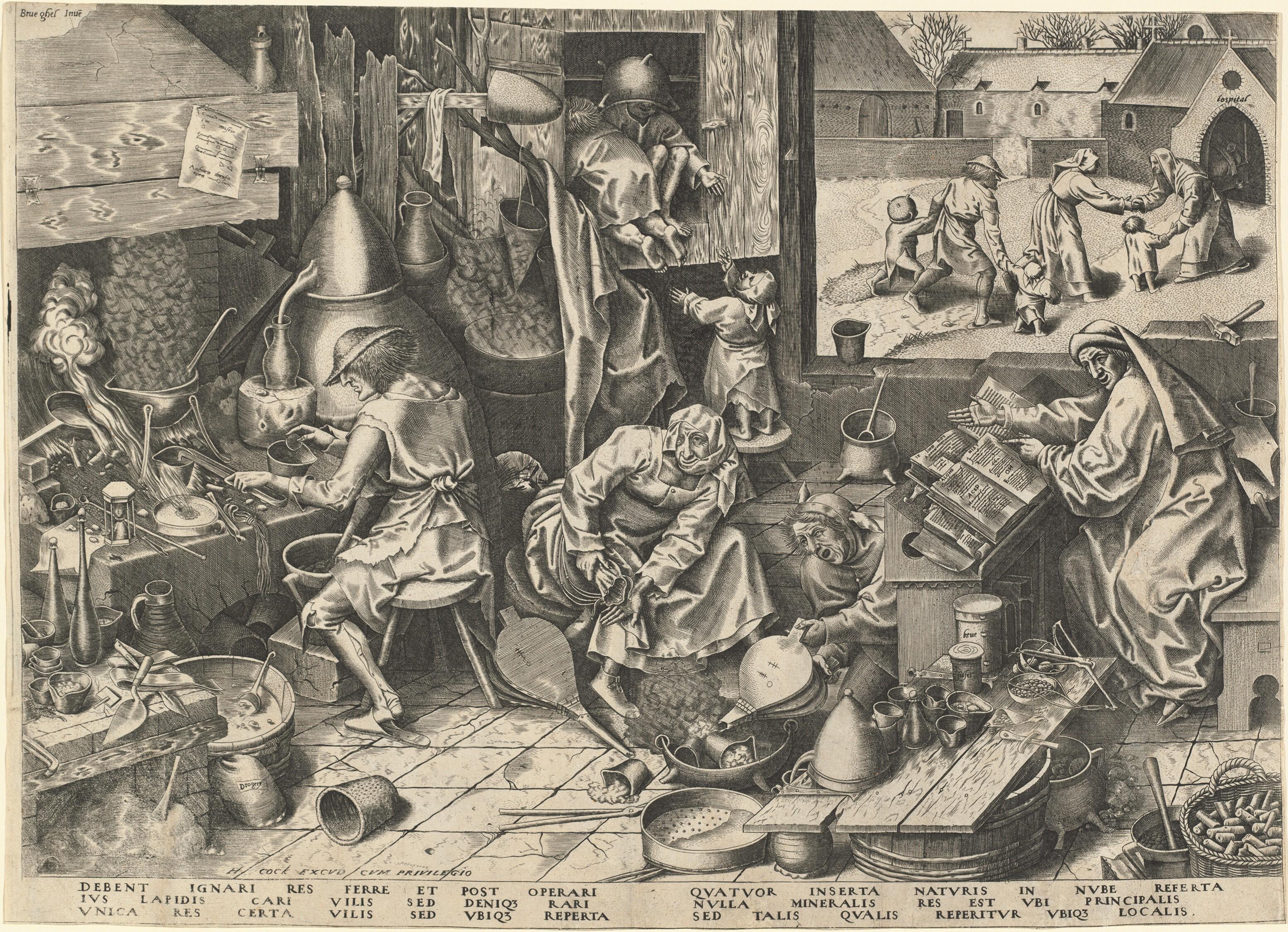 Pieter Bruegel der Ältere - Der Alchemist