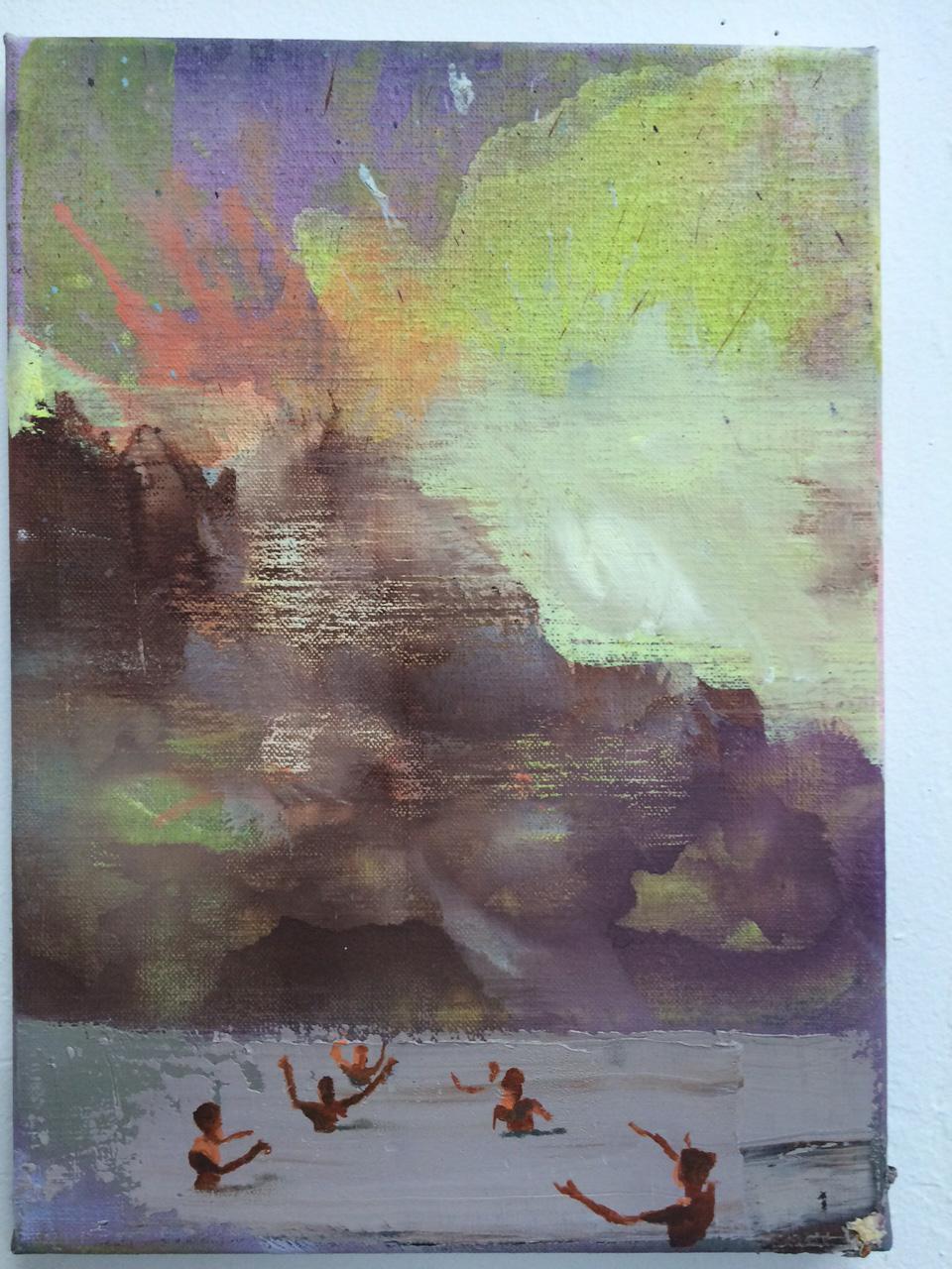 Marius Bercea, 1986, Oil and Acrylic on Canvas, 2016